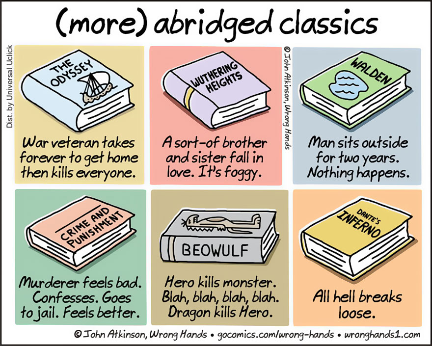 abridged classics books shortened comics wrong hands john atkinson 2